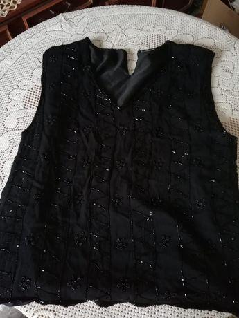 Topik/ top/ bluzka z zorzety z koralikami, r. S