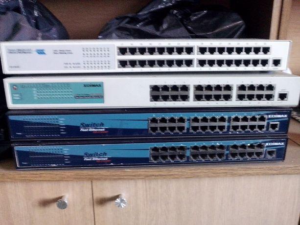 Switch Edimax ES-3124RF, access point d-link i konwerter planet