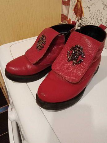 Ботинки кожаные зимние женские Р36