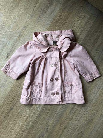 Продам стильный коттоновый плащик пальто ветровка для девочки 3 6 мес.
