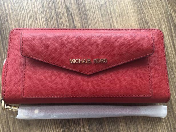Оригинальный кожаный кошелек Michael Kors (Furla, Tory Burch)