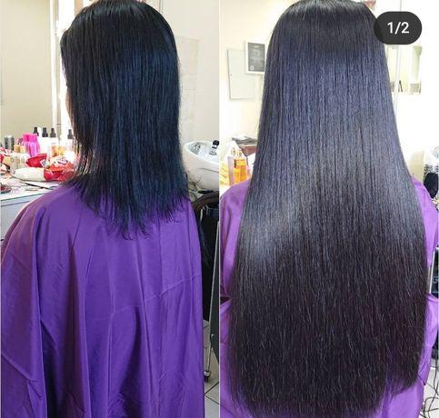 Наращивание волос по итальянской технологии, коррекция волос
