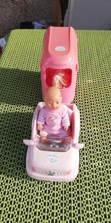 Mini baby born z przyczepą