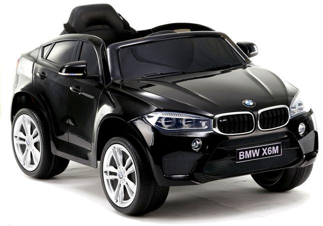 Auto na Akumulator BMW X6 M F16 Skóra Gumowe koła EVA 90 Watt Czarn