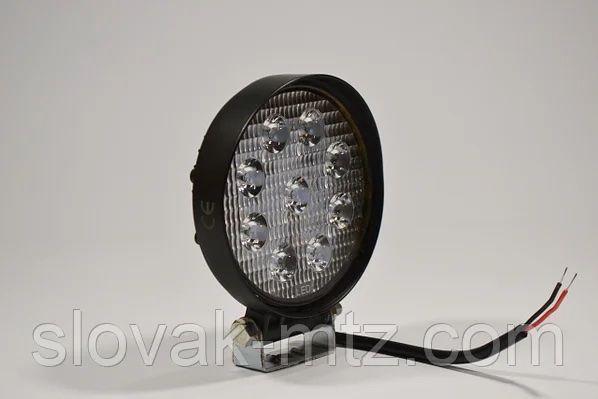 Светодиодная LED фара круглая рабочая 27W/60° 27Вт,(3Вт*9ламп)