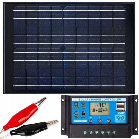 Panel solarny bateria słoneczna 20w 12v regulator [ZES270]