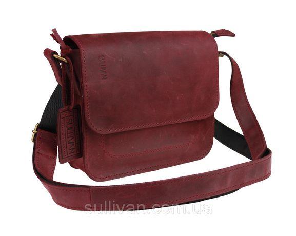 Кожаная женская сумка клатч натуральная кожа ручная работа sullivan