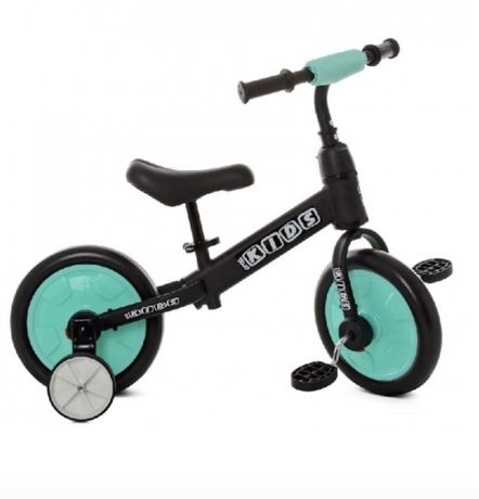 Беговел, велосипед 2 в 1 profi kids красно синий