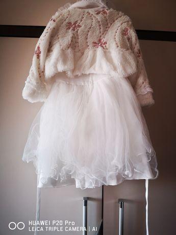 Sukienka biala rozmiar 86