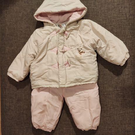 Kombinezon zimowy kurtka zimowa spodnie ocieplane rozm. 74