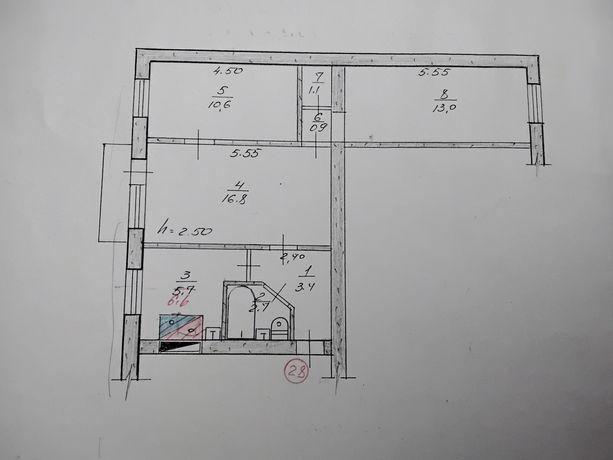Продается 3-х комнатная квартира в Кировске