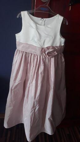 Sukienka pudrowy róż-eri