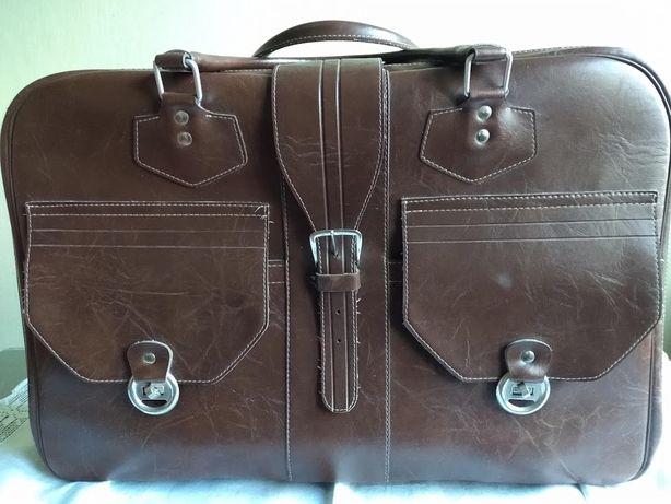Elegancka walizka solidny neseser z PRL retro vintage