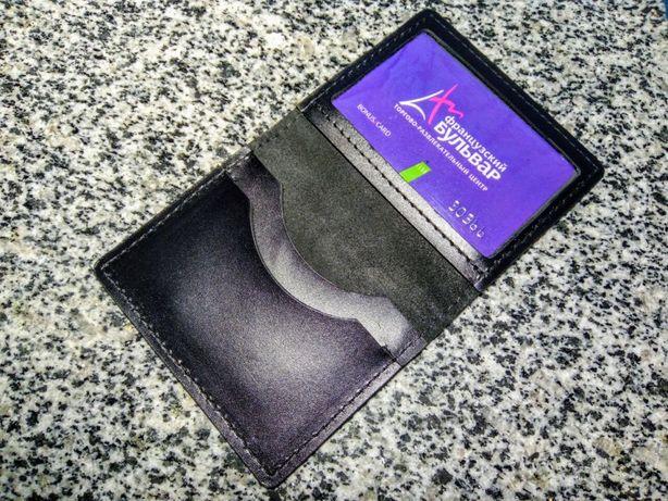 Кожаная обложка на права, паспорт, картхолдер