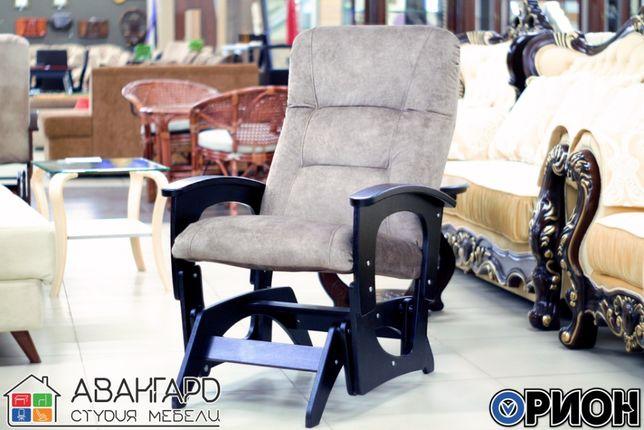 """Кресло-качалка глайдер из велюра в гостиную / спальню """"Орион"""""""