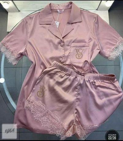 Шелковая пижама,46 р-р,1000 руб