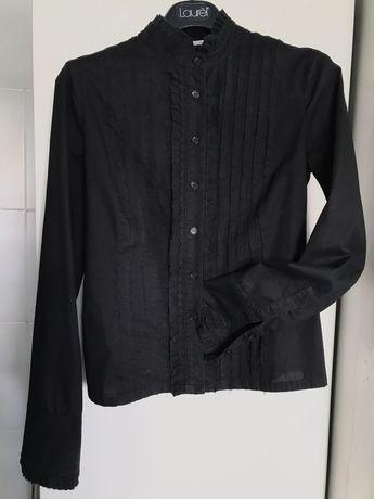 Camisa Blusa preta com bordado Blanco tamanho 36 S