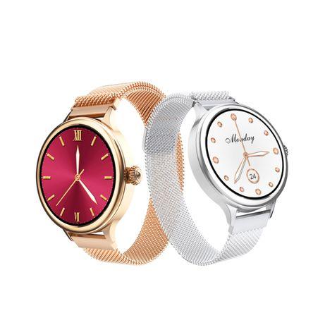Smartwatch Damski Zegarek Złoty na Bransoletce stalowej M4
