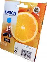 Oryginalny tusz Epson 33 Cyan niebieski