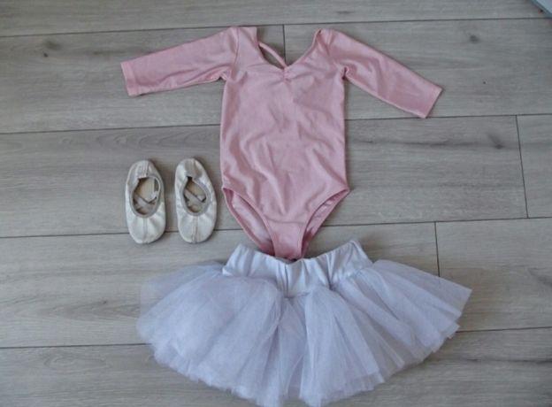 Strój na balet spódniczka body H&M baletki