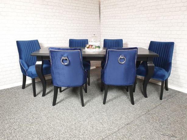 Krzesło z kolatka i pinezkami velvet tapicerowane wygodne nowe produc