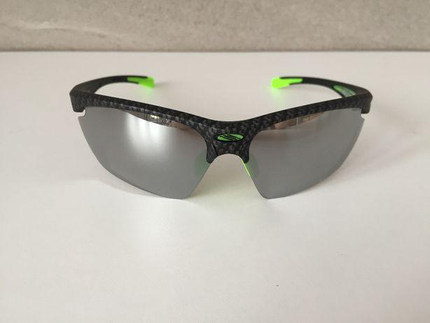 Nowe oryginalne okulary RUDY PROJECT Stratofly, Carbon i zielony.