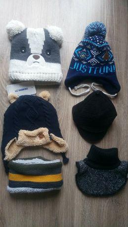 Зимові шапочки 2-4роки, хомутики