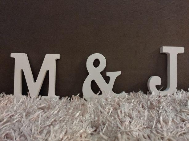 Litery m & j  dekoracje ślubne literki