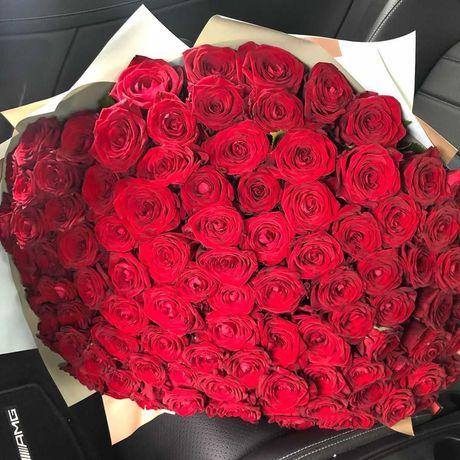 Огромный букет - 101  роза! Подарок девушке,цветы,Днепр доставка