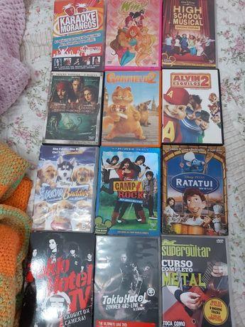 Coleção de DVDs variada