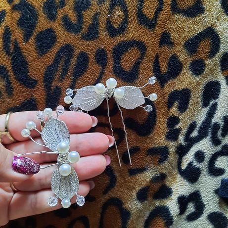 Заколки, шпильки, украшения свадебные для волос