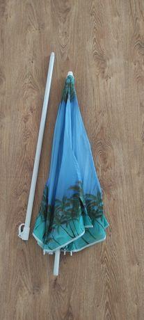 Зонтик пляжный синий большой