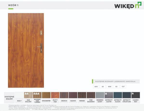 Drzwi wejściowe Wikęd Normal 54mm Wzór 1 - dystrybutor