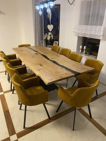 Stół do Jadalni 260 x 100 / Żywica / Loft / Industrialny / Dąb /