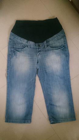 Spodnie rybaczki jeansowe ciążowe H&M roz. 40