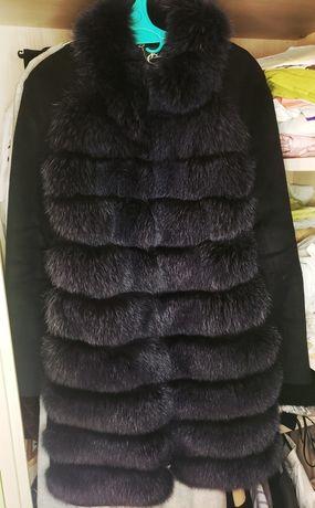 Пальто зимове з натуральним хутром