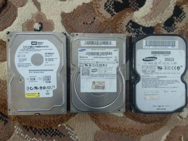 Жесткий диск ( диски) HDD IDE РАЗНЫЕ 3 шт