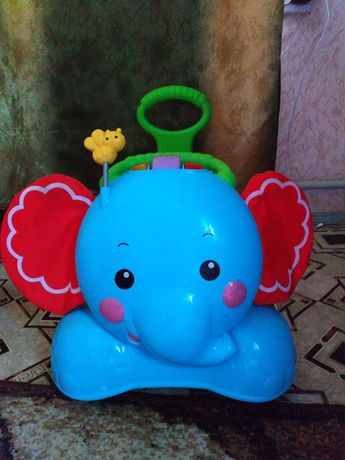 Слон каталка Fisher Price, толокар