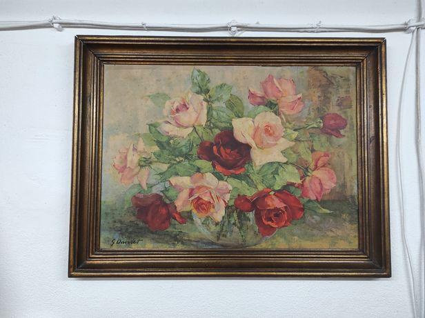 Quadro de Georges DANSET: Bouquet de roses.