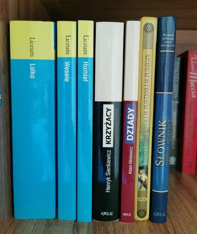 Lektury Krzyżacy Wesele Hamlet Słownik W pustyni  książki