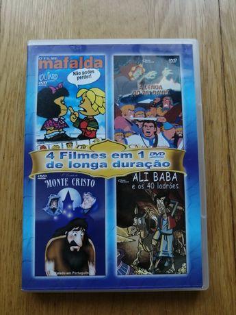 Pack de 4 Filmes infantis num DVD