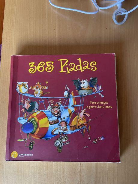 """Livro """" 365 Piadas"""" , Editora Civilização"""