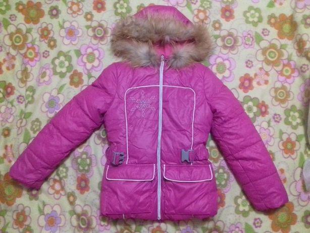 Зимняя куртка-пуховик для девочки, 146 см, 10 лет (новая)