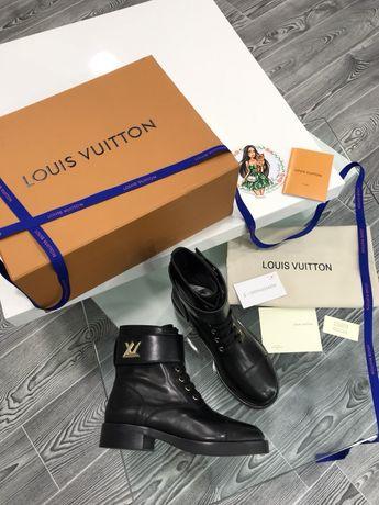 Сапоги ботинки LV Louis Vuitton натуральная кожа