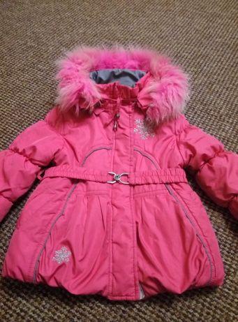 Комплект зимний, костюм куртка и полукомбинезон.