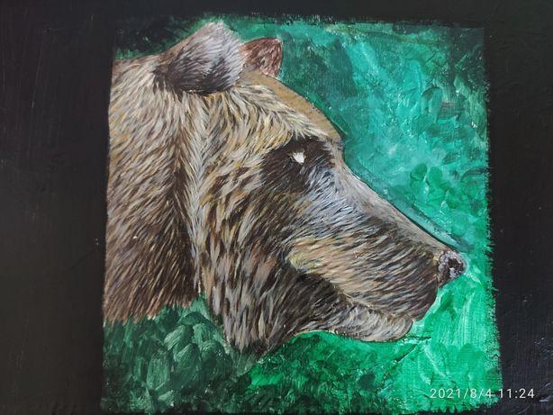 Картина акрил. Медведь