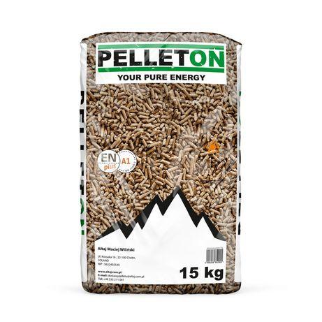 Pellet drzewny PELLETON 6mm A1 EN plus worki 15 kg
