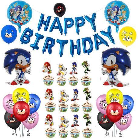 Kit decoração festa aniversário Sonic - portes grátis