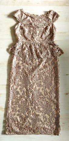 Sukienka złota koronkowa cekinowa L XL