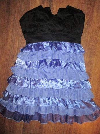 Sukienka z falbanek rozmiar S Jeane Blush zapinana na zameczek